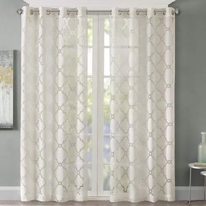 Madison Park Eden Ivory Sheer Curtain  50x84